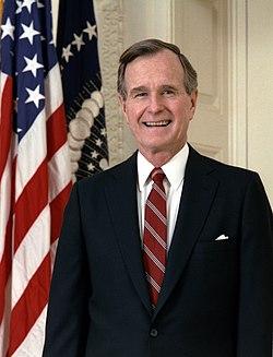 George H. W. Bush en 1989.