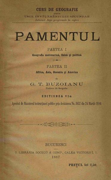 File:George T. Buzoianu - Pamentul - curs de geografie pentru usul învățământului secundar. (Partea 1 și a 2-a).pdf