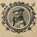 Georgius Agricola. Reproduction of woodcut. Wellcome V0000051.jpg