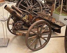 Un 7,58 cm Minenwerfer.