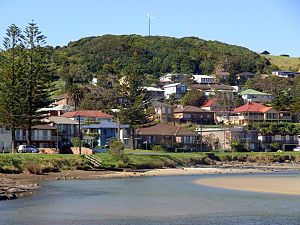 Gerroa, New South Wales - Gerroa, rainforest hill and the Crooked River