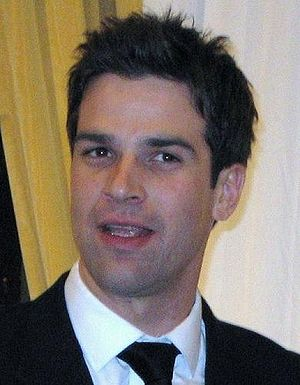 Gethin Jones - Jones presenting at a charity ball on 21 March 2008 in Bristol, England