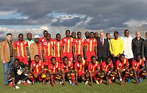 Ghana national under-20 football team - Ghana national u-21 team before the friendly match with Bulgarian V AFG side Slivnishki Geroi (1-1), 18-11-2010, Slivnitsa, Bulgaria.