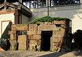 Giardino del museo archeologico, tomba del crocifisso del tufo da orvieto, VI-V sec ac. 03.JPG