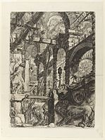 Giovanni Battista Piranesi - Le Carceri d'Invenzione - Second Edition - 1761 - 05 - The Lion Bas-Reliefs.jpg