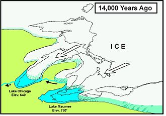 Indiana Dunes National Park - Glacial Lake Chicago, 14,000 years before present