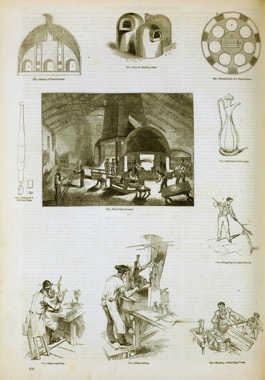 Glassworking England 1858