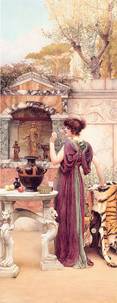 File:Godward-At the Garden Shrine, Pompeii.jpg