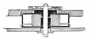 Drawing of a 'going barrel' type mainspring ba...