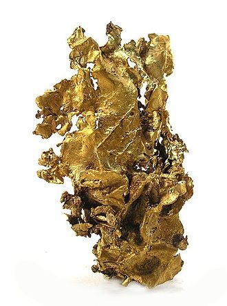 Porgera Gold Mine - Piece of gold of unusual size and quality from Porgera mine,  4.7 x 2.8 x 1.6 cm