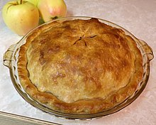 An apple pie