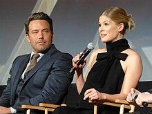 I protagonisti Ben Affleck e Rosamund Pike alla presentazione del film al New York Film Festival.