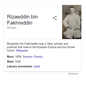 Google Knowledge Graph Infobox on Rizaeddin bin Fakhreddin.png