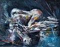 Goran Gatarić, Woman At the Dock ll, 40×50.5, Oil on canvas.jpg