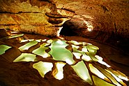 Gours des grottes de Saint Marcel d'Ardèche, France