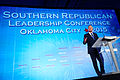 Governor of Florida Jeb Bush at Southern Republican Leadership Conference, Oklahoma City, OK May 2015 by Michael Vadon 127.jpg