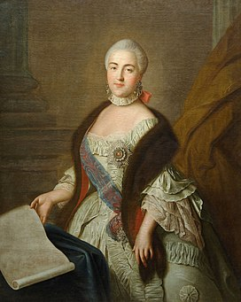 Grand Duchess Catherine Alexeevna by I.P. Argunov after Rotari (1762, Kuskovo museum).jpg