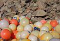 Granite cliffs and plastic fishing balls.jpg