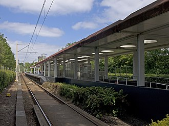 Graskruid metro station - The platform from the south