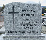 Grave of Wacław Machnik at Posada Cemetery in Sanok 2.jpg
