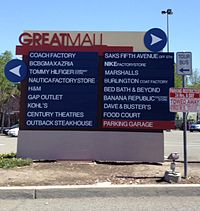 Great Mall Of The Bay Area Wikipedia - San jose great mall map