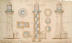 Green Cape Lighthouse - Original plans of the lighthouse.