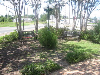Coushatta, Louisiana - Green space at entrance to downtown Coushatta