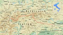 Austria Italia Cartina.Confine Tra L Austria E L Italia Wikipedia
