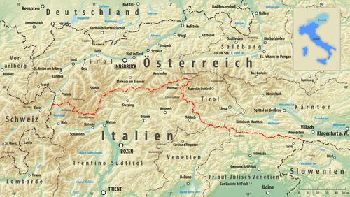 deutschland österreich italien karte Grenze zwischen Italien und Österreich – Wikipedia