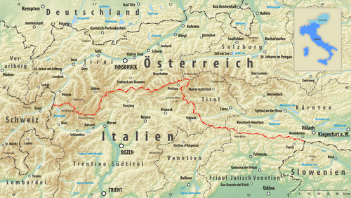 Map Of Austria And Italy Austria–Italy border   Wikipedia
