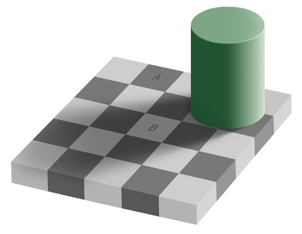 Edward Adelson's optical illusion