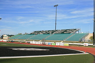 Griffiths Stadium - The east side stands of Griffiths Stadium