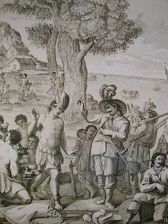 Potonchán - The encounter between Juan de Grijalva and the Mayan chief Tabscoob occurred in Potonchán on June 8, 1518.