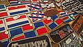 Groninger flag patches at the TT-Hall Motorbeurs in Assen (2018) 04.jpg