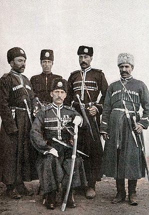 Qarapapaqs - Image: Group of Karapapakh Hamidiyeh Cavalry