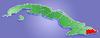 Lage der Provinz Guantánamo