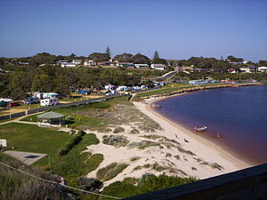 Guilderton, Western Australia - Lookout view of Guilderton at the Moore River mouth