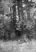 Gustave Courbet - Fighting Stags in a Forest - KMS1957 - Statens Museum for Kunst.jpg