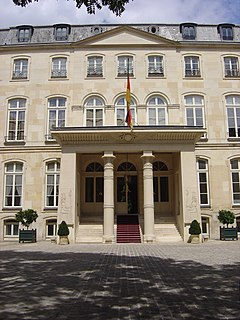 Official residence of the Ambassador of Germany to France, located in Paris