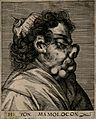 H. von Mamolocon, a character with a grotesque face. Line en Wellcome V0007457ER.jpg