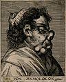 H. von Mamolocon, a character with a grotesque face. Line en Wellcome V0007457ER.jpg