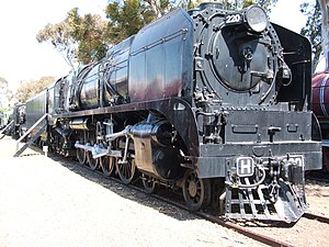Victorian Railways H class - H220, in static preservation at the Australian Railway Historical Society Museum