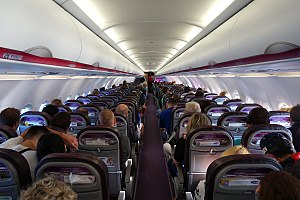 Wizz Air - Cabin of a Wizz Air Airbus A320-200