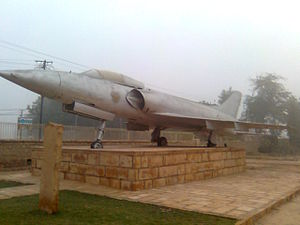 HAL HF-24 Marut - A preserved Marut on static display. This aircraft had participated in the Battle of Longewala.