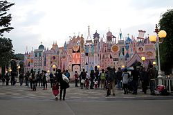 HKDL It's a small world dusk view 2012.jpg
