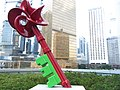 HK Admiralty Tamar Park red sculpture Key in art Sept-2012.JPG