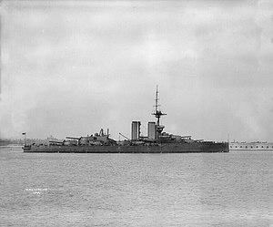 HMS Audacious (1912) - Audacious as completed, 1913