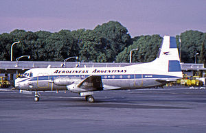 Hawker Siddeley HS 748 - Aerolineas Argentinas Avro 748 Series 1 at Aeroparque Jorge Newbery, Buenos Aires, in 1972
