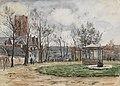 HUA-220457-Gezicht in het Oranjepark te Utrecht met rechts de muziektent en de fontein en links op de achtergrond de toren van de Jacobikerk Jacobskerkhof .jpg