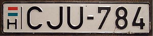 Vehicle registration plates of Hungary - Normal series (1990-2004 style)